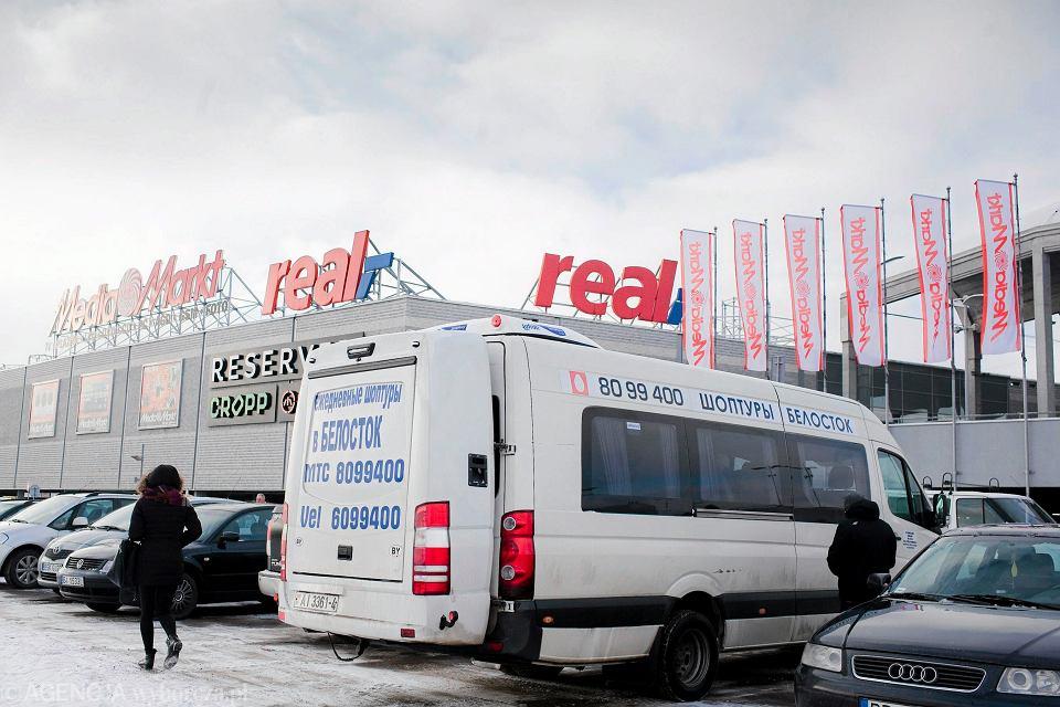 Białorusini na zakupach w Białymstoku