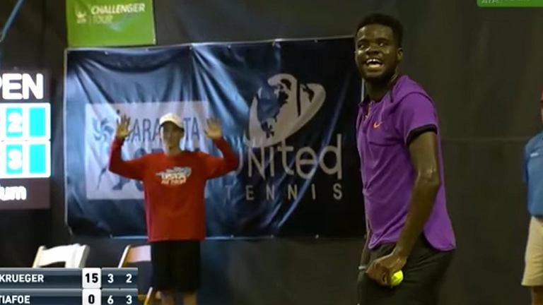 ''Akcja'' na korcie tenisowym