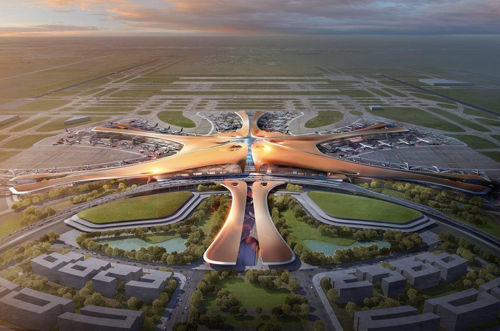 Wizualizacja lotniska w Pekinie