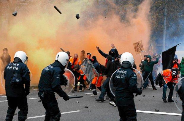Protesty w Brukseli