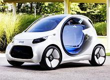 Koncept Smarta bez kierownicy i pedałów