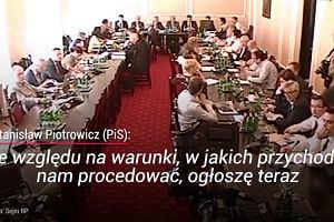 Piotrowicz groził dziennikarzom. Nie chciał, by transmitowali obrady Sejmu