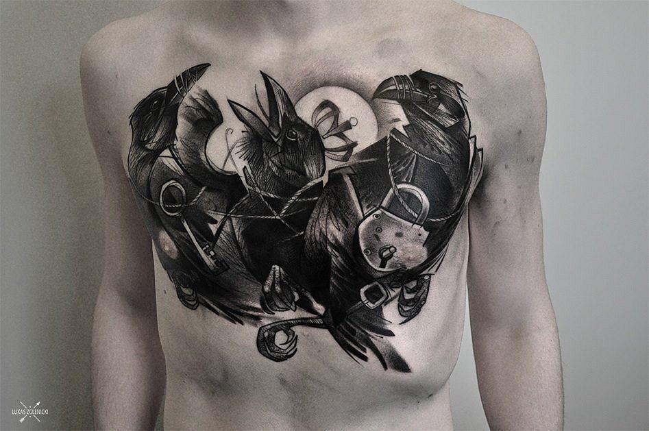 Tatuaż Łukasza Zglenickiego