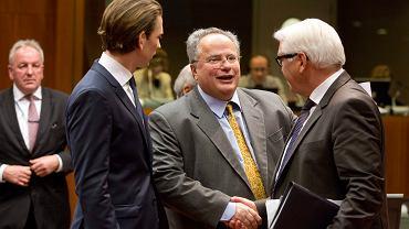 Ministrowie spraw zagranicznych Austrii, Gracji i Niemiec na spotkaniu szefów dyplomacji UE
