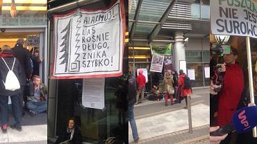 Protest Obozu dla Puszczy w Dyrekcji Generalnej Lasów Państwowych
