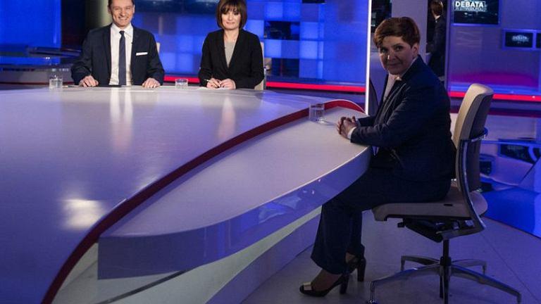 Wywiad z premier Beatą Szydło w TVP Info i Polsat News