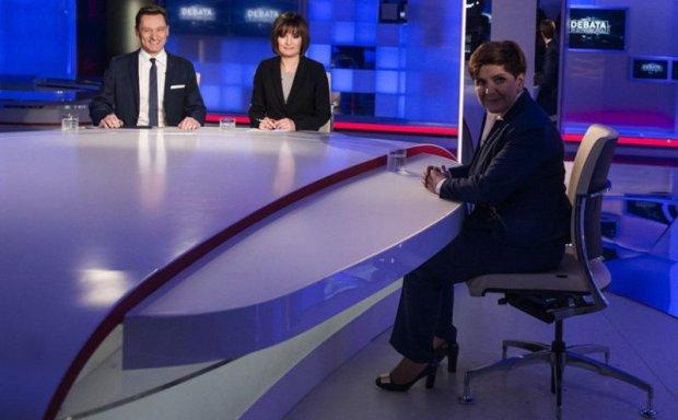 Wywiad z premier Beat� Szyd�o w TVP Info i Polsat News