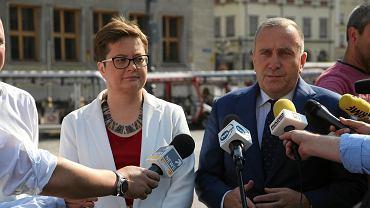 Konferencja Grzegorza Schetyny i Katarzyny Lubnauer