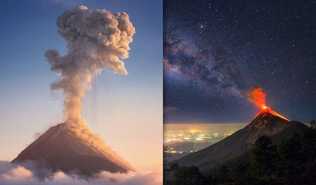 Sfotografował wybuch wulkanu na tle drogi mlecznej. Zrobienie takiego zdjęcia graniczy z cudem [ZDJĘCIE]