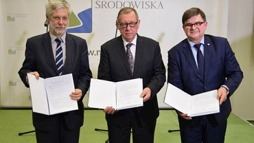Podpisanie porozumienia w sprawie realizacji inwestycji budowy Stopnia Wodnego Siarzewo.
