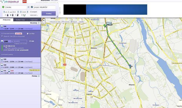JakDojade.pl to serwis, który daje użytkownikowi niezwykle dużo cennych i aktualnych informacji
