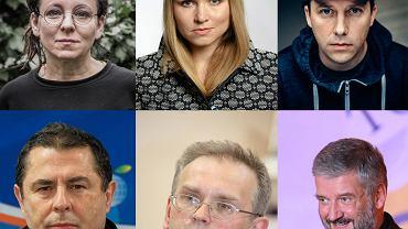 Olga Tokarczuk, Dorota Masłowska, Paweł Sołtys, Bronisław Wildstein, Piotr Zaremba, ks. Robert Skrzypczak