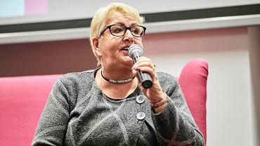 27.10.2018, Łódź. 'Kobiety wiedzą co robią'. Na zdjęciu Henryka Krzywonos.