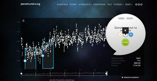 Dane dotyczące gwiazdy w serwisie OdkrywcyPlanet.pl