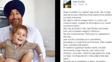 Mąż i syn Julii Sondhi
