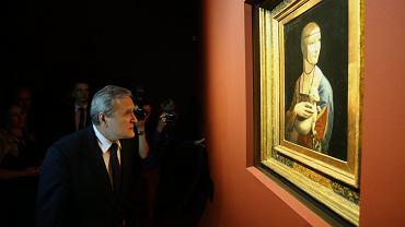 Minister Kultury Piotr Gliński podczas otwarcia wystawy obrazu 'Dama z gronostajem', Muzeum Narodowe, Kraków, 18.05.2017