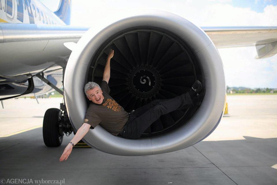 Dyrektor generalny linii lotniczych Ryanair Michael O'Leary w Gdańsku, 6 czerwca 2014