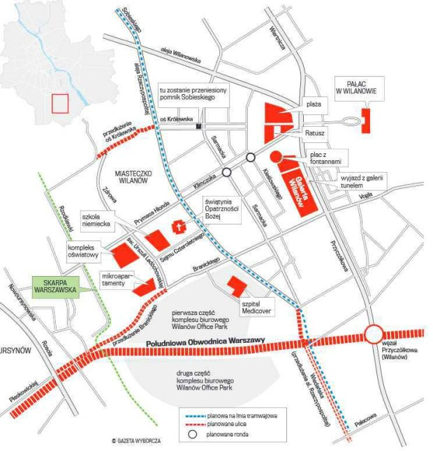 Jak się zmieni Miasteczko Wilanów: tramwaj, nowe ulice Benedict Cumberbatch