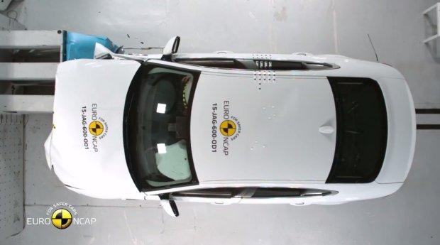 Jaguar XE testy Euro NCAP
