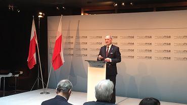 Macierewicz na Konferencji Bezpieczeństwa