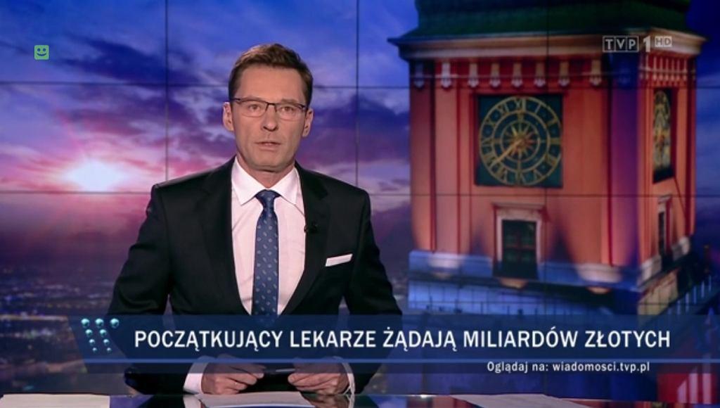Protest lekarzy okiem 'Wiadomości' TVP