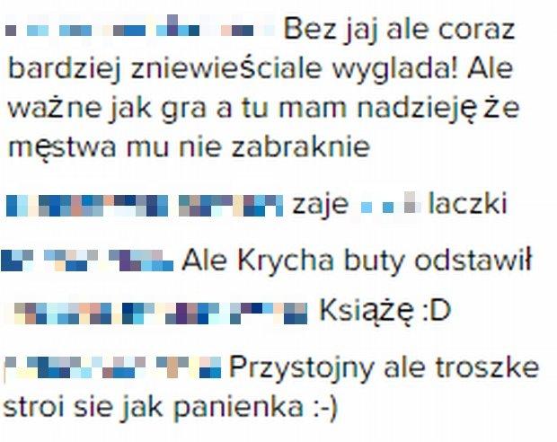 Komentarze fanów Grzegorza Krychowiaka