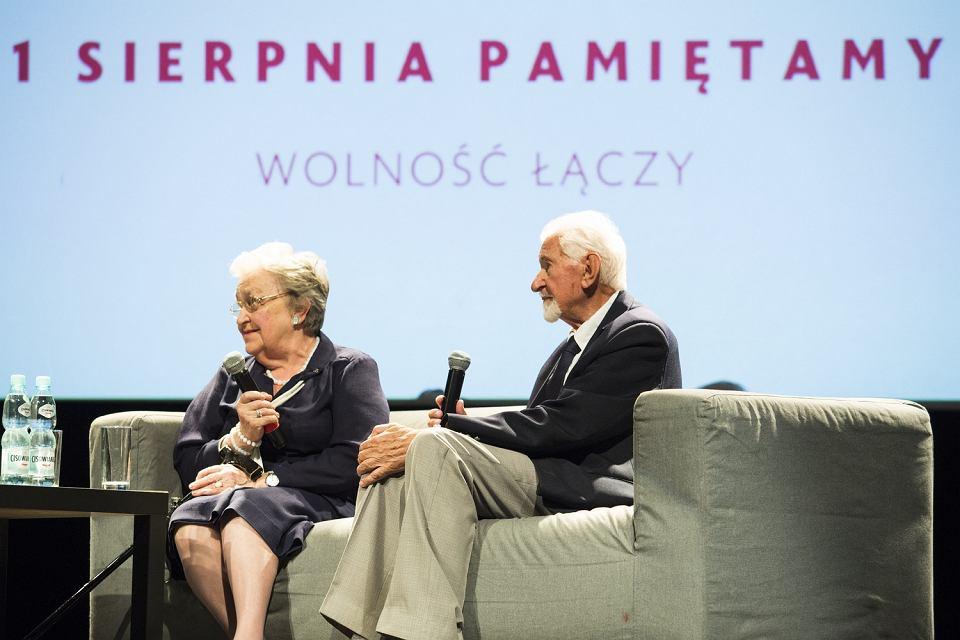 Hanna Stadnik i Leszek Żukowski, Warszawa 22.06.2017. Prezentacja spotów przygotowanych z okazji 73. rocznicy powstania warszawskiego