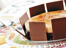 Tort czekoladowo-orzechowy z creme brulée - ugotuj