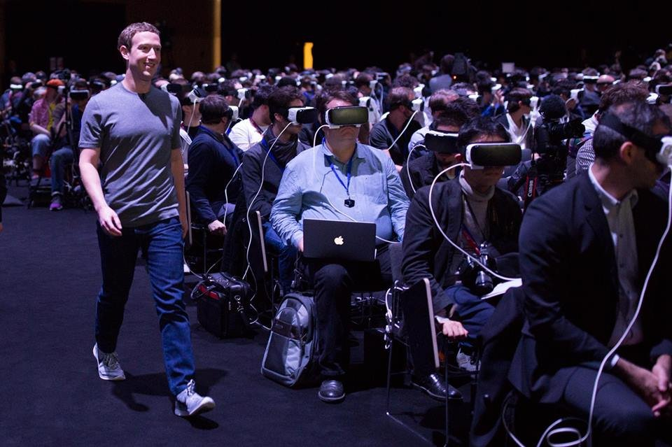 Mark Zuckerberg na konferencji MWC 2016