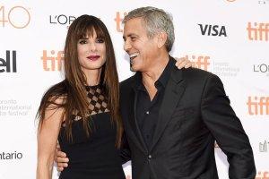 """Sandra Bullock zachwyci�a. I to tak, �e Clooney nie odrywa� od niej oczu, a w ko�cu... """"Uwa�aj Amal!"""""""