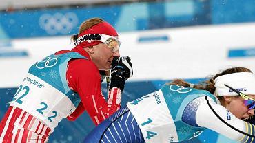 Justyna Kowalczyk podczas XXIII Zimowych Igrzysk Olimpijskich Pjongczang 2018