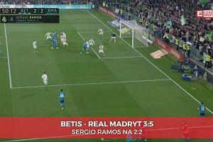 La Liga. Betis Sewilla - Real Madryt 3:5. Sergio Ramos strzela głową i doprowadza do remisu [ELEVEN SPORTS]