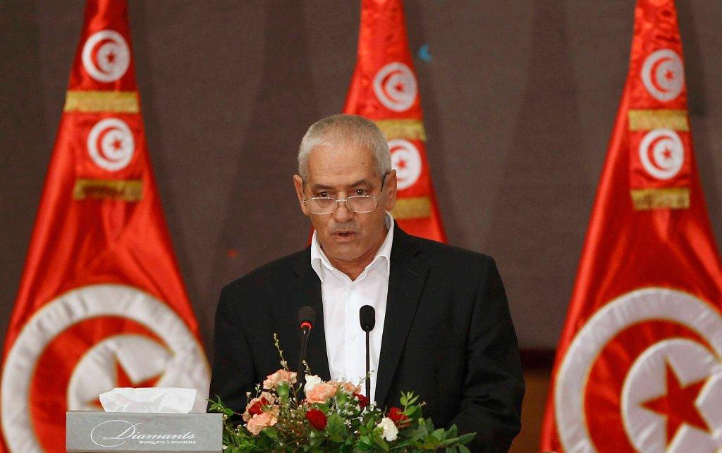 Houcine Abassi, sekretarz generalny UGTT, wchodzącej w skład Tunezyjskiego Kwartetu Pokoju