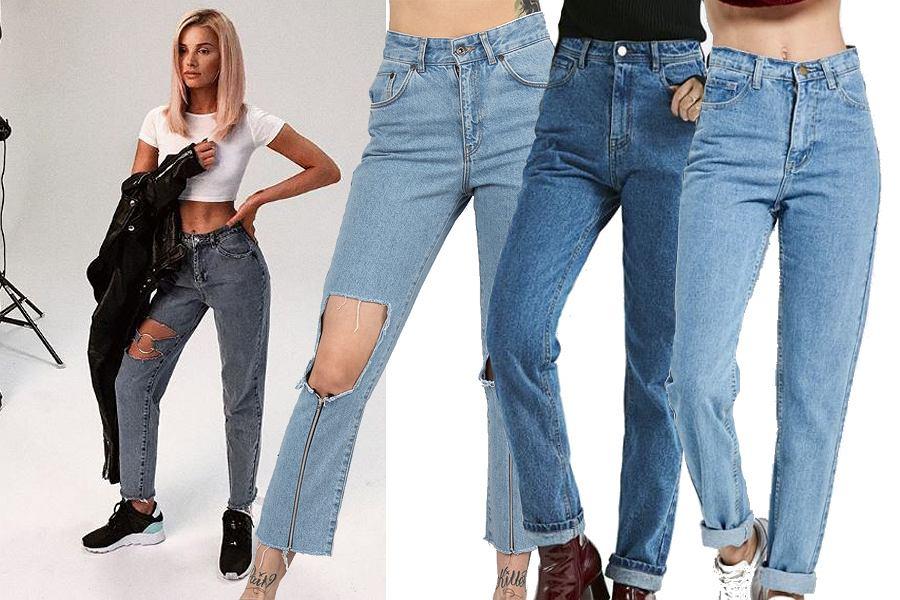 Kolaż, spodnie mom jeans/Materiały partnera