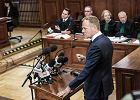 Donald Tusk w Sądzie Okręgowym w Warszawie.
