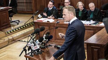 Donald Tusk w Sdzie Okrgowym w Warszawie.
