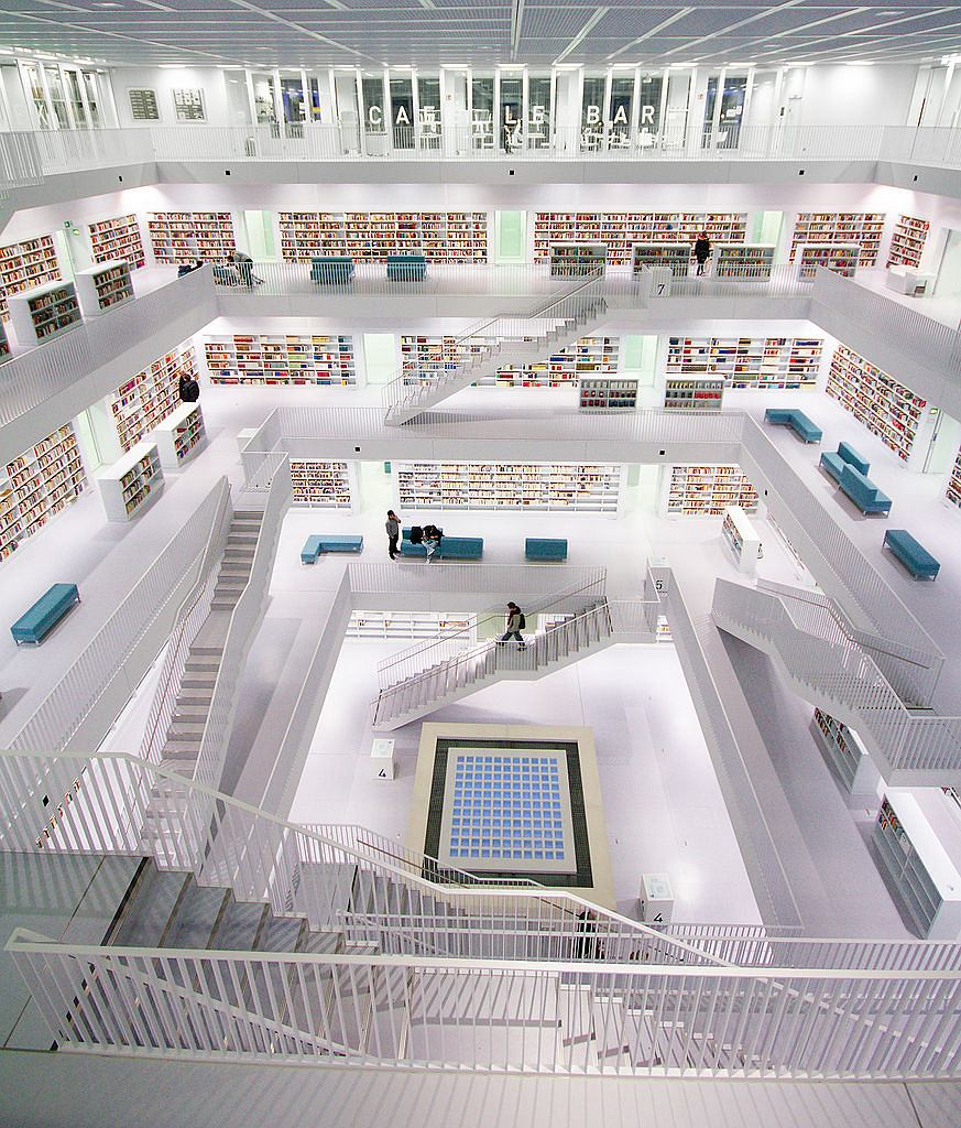 Stadtbibliothek Stuttgart / Fot. Jan Stöcklin, WIkimedia CC BY-SA 3.0.