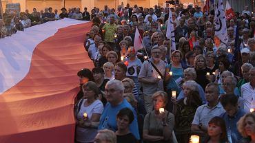 Protest przed Sądem Najwyższym w Warszawie,18.06.2018