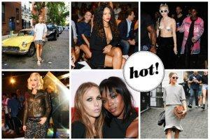 New York Fashion Week: Rihanna stawia na seksowne stylizacje, Miley Cyrus zn�w szokuje, a Olivia Palermo przebiera si� po kilka razy dziennie, a Jessica Mercedes promuje polskie marki [DU�O ZDJ��]