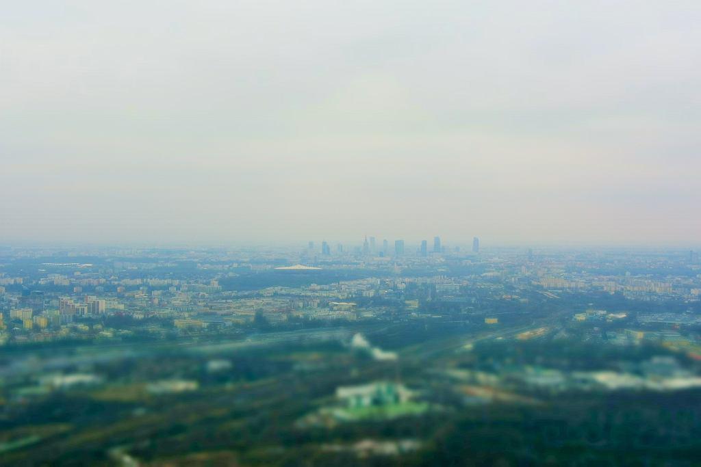 Warszawa z najwyższego punktu widokowego