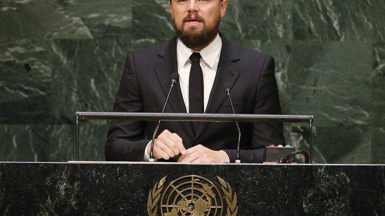 Leonardo DiCaprio przemawia na szczycie klimatycznym ONZ