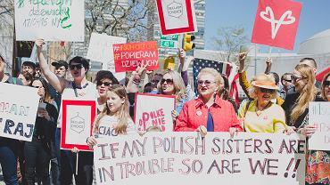 Przed siedzibą ONZ w Nowym Jorku Polski demonstrowały przeciwko zakazowi aborcji