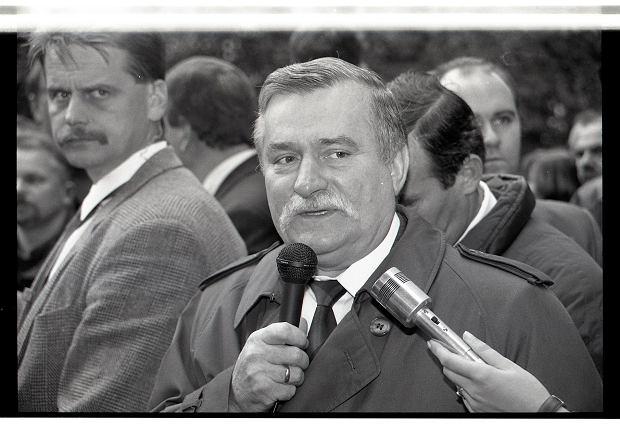 Lech Wałęsa w Zielonej Górze w 1995 r.
