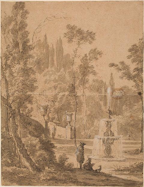 Schellinks, Willem (1627-1678); Holandia; Widok parku z fontanną; ok. 1664