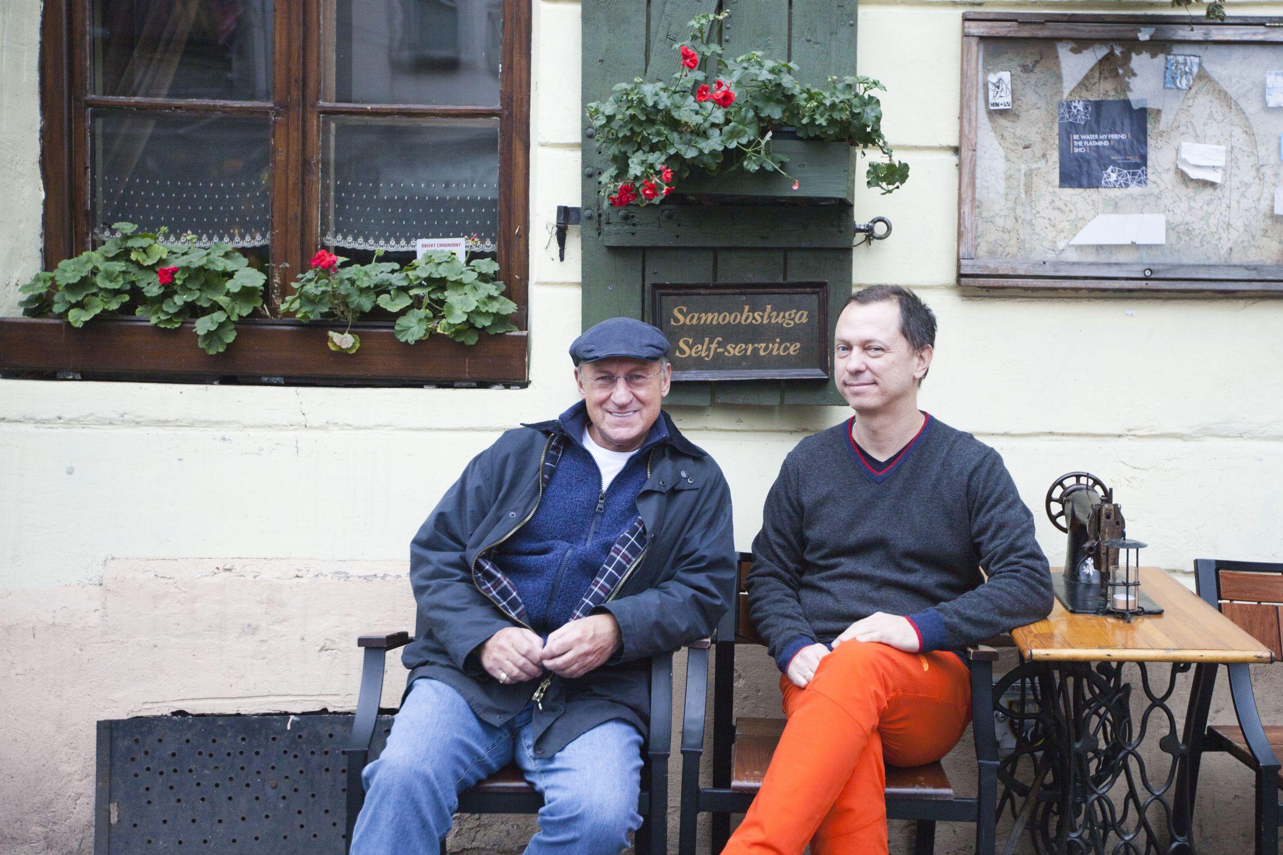 Piotr Fronczewski i Marcin Mastalerz (fot. materiały prasowe / Znak Literanova)