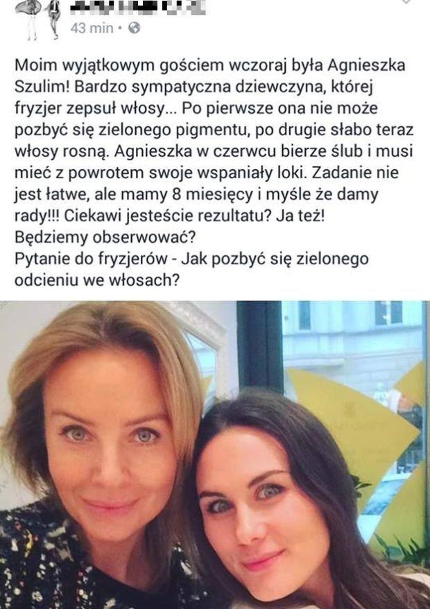 Agnieszka Szulim Chciała Ukryć Datę ślubu Ze Starakiem Niestety