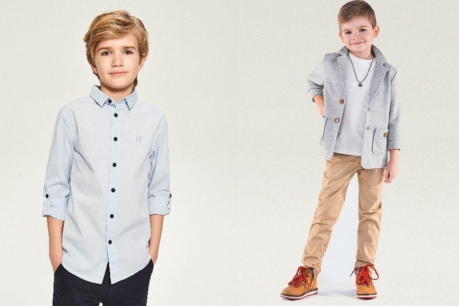 eleganckie ubrania dla chłopców