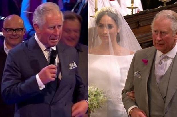 Książę Karol zdecydował się wygłosić żartobliwą mowę na weselu księżnej Sussex i księcia Harry'ego. Gości ponoć byli rozbawieni, ale syn chyba nie był zadowolony.