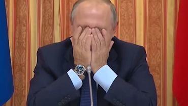 Władimir Putin rozbawiony do łez