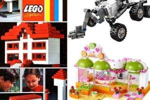 Tak klocki Lego zmienia�y si� na przestrzeni lat. Zacz�o si� od wsp�lnych zestaw�w dla ch�opc�w i dziewczynek...